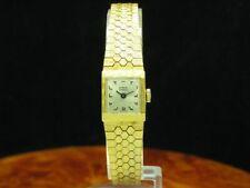 EMKA Geneve Gold Mantel / Edelstahl Handaufzug Damenuhr / Kaliber AS 1977