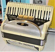 SETTIMIO SOPRANI PIANO  ACCORDION WITH THE STRAPS +CASE GREAT WORKING CONDITION