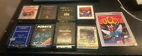 Atari 2600 Lot of 8 Tomcat Ghostbusters Up Down Marine Wars Porky's Joust More