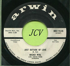 RICKI PAL (Just Outside Of Love / No Need For Crying)  ROCK  45 RPM  RECORD