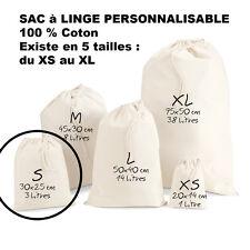 SAC à LINGE a personnaliser LESSIVE vetements enfants Taille S Petit modèle