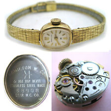 VINTAGE Old HAMILTON 10K Gold Filled 17 JEWELS Womens WATCH Ladies Wristwatch