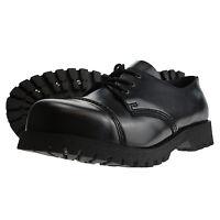 Boots and Braces 3-Loch Schuhe Rangers Stahlkappe Halbschuhe Schwarz Neu Stahl