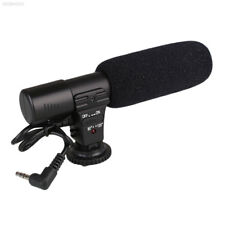 0E77 On-Camera Video Shotgun Stereo Microphone Mic For DSLR Camera 3.5mm Jack