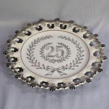 25th Silver Anniversary Decorative Plate UCAGO Ceramics 8 Inch Diameter