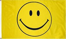 3x5 Smile Smiley Face Happy Face Flag 3'x5' Banner Brass Grommets Fade Resistant