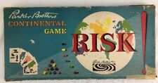 Vintage Risk Board Game Original Box Wood Wooden Pieces