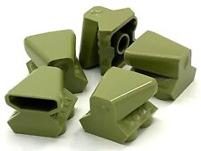Lego 5 New Olive Green Vehicle Air Scoop Top 2 x 2 Pieces