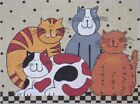 Needlepoint Handpainted Maggie Co Cats 7x10