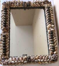 "Real Shell Frame Mirror 23"" by 19"" Beach Shore Home Decor"