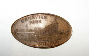 1906 INDIAN CENT ELONGATED RIVERVIEW CHICAGO ILLINOIS TOKEN
