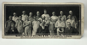 RPPC Photo POSTCARD Photograph INDIANAPOLIS Dilling & Co Candy Workers Group