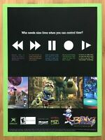 Blinx The Time Sweeper Xbox 2002 Vintage Print Ad/Poster Art Official Promo Rare