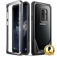Poetic Samsung Galaxy S9 Plus Case  Guardian  Rugged Clear Hybrid Bumper  Black 2f7d494b4b