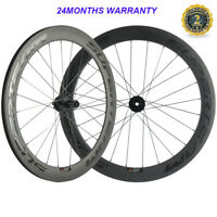 700C 38 50 60 88mm Carbon Disc Brake Wheelset Thru Axle/QR Road Bicycle Wheels