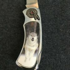 White Wolf Collector's Pocket Knife, Wildlife Collection
