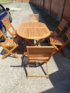 Hardwood Table And 6 Chairs
