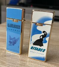 2 Mini Briquets GITANES - GAULOISES sharp Japan Collection Vintage (no Zippo)