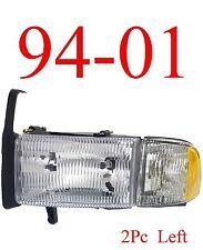 94 01 Dodge Ram Left Head Light, Truck, W/ Parking Light 1500 2500 3500, Combo