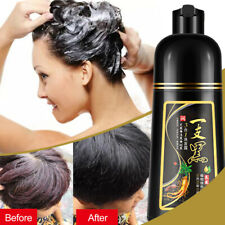 500ml Natural Herbal Black Hair Color Dye Shampoo Permanent Coloring for Unisex