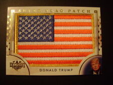2016 Benchwarmer Decision Donald Trump SUPER FLAG PATCH GOLD Piece of History