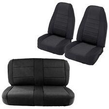 Smittybilt Neoprene Seat Covers - Black/Black. Fronts + FREE Rear 03-06 Jeep TJ