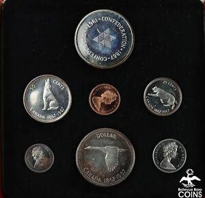 1967 Canada Centennial Uncirculated 7 Coin-Set w/Box (ASW 1.85oz)