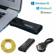 Mini USB 2.0 Port HD HDMI 60fps Video Game Capture Recorder Card Monitor For PC