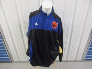 "VINTAGE ADIDAS NBA NEW YORK KNICKS XXLT ""NYK"" SEWN BUTTON WARM UP PLAYER JERSEY"