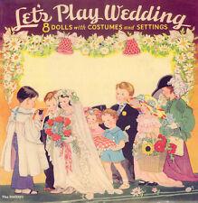 VINTGE 1938 PLAY WEDDING PAPER DOLL ~SAALFEILD~ ORG SZ UNCUT LASR REPRO~NO.1SEL