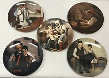 Vintage Lot of 5 Norman Rockwell Heritage Collection Plates Knowles Numbered Ltd