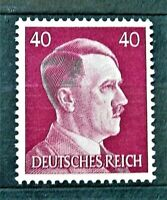 WW2 REAL NAZI 3rd REICH ERA GERMAN STAMP ADOLF HITLER REICHSKANZLER 40rf MNH