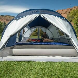 Ozark Trail 10 Person 3 Room Cabin Tent With 2 Side Entrances Silver Lightweight