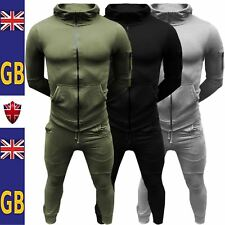 New Mens CORDUROY TOP Bottom Joggers Slim FIT Ribbed Panel Hoodie SET Tracksuits