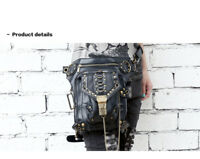 Punk Leather Waist Pack Shoulder Leg Bag Retro Vintage Gothic Steampunk Handbag