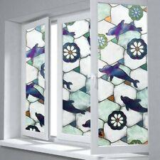 1M PVC Glass Window Film Sticker Cute Owl Print Decal Home Kids Room Decor Funny