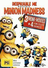 DESPICABLE ME Presents MINION MADNESS DVD 3 MINI-MOVIES+4 FUN-FILLED GAMES! R4
