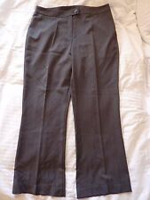 "Marks and Spencer grey striped work, smart trousers. Size 16 long. 30"" long"