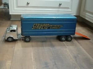 Vintage Structo Trans Continental Express Semi Truck Trailer With Rare Ramp