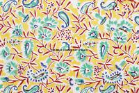 By Yard Indian Hand Block Print Flower Pure Cotton Fabric Sanganeri Running