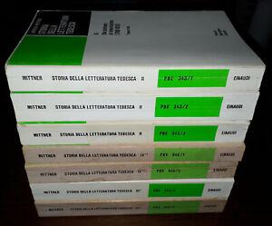 Lotto 7 volumi Storia della letteratura tedesca, Ladislao Mittner, Einaudi