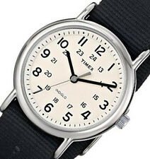 NON-WORKING $44.95 Timex Mens Weekender Grey Nylon Classic Watch T2P467 NO BOX