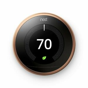 Google Nest Learning Smart Thermostat 3rd Generation Copper T3021US