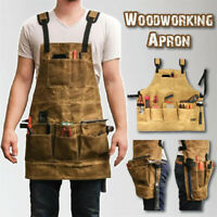 Cooking Aprons Garden Tool Apron Multi Pockets Multifunction Waterproof Tool