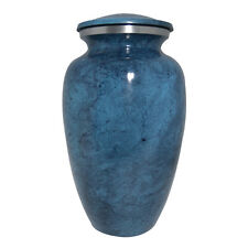 Adult Large Aluminium Urns for Cremation Ashes In Blue