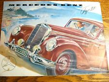1953 1954 Mercedes-Benz Type 220 Brochure Original