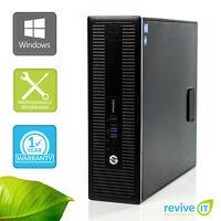HP EliteDesk 800 G1 SFF  i5-4570 3.20GHz 4GB 500GB Win 10 Pro 1 Yr Wty