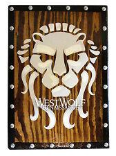 Early Roman LION SHIELD --- sca/larp/celtic/gaul/viking/norse/wood/wooden/armor