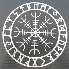 Aegishjalmur rune circle gods myths magic stickers/car/window/decal 5374 Silver