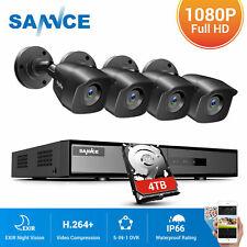 Sannce 1080P Lite 4Ch Dvr 2Mp 3000Tvl Video Security Camera System Ir Motion App